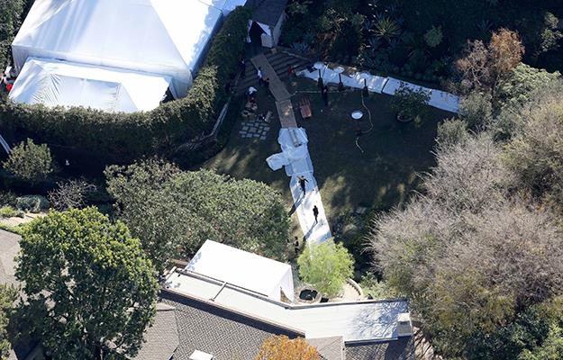 A large marquee has been spotted in Cameron's backyard with a big party looking set to take place.