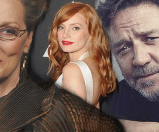 Meryl Street Jessica Chastain Russell Crowe