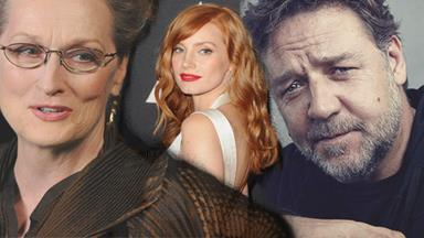 Russell Crowe slammed by Jessica Chastain but defended by Meryl Streep