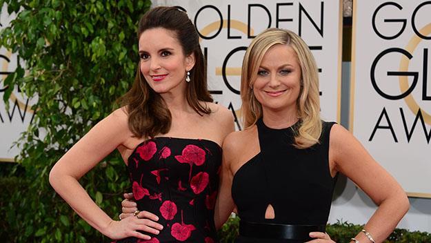 Golden Globe hosts, Tina Fey and Amy Poehler.