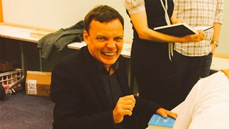 Graeme Simsion at his appearence in Los Angeles on Monday.