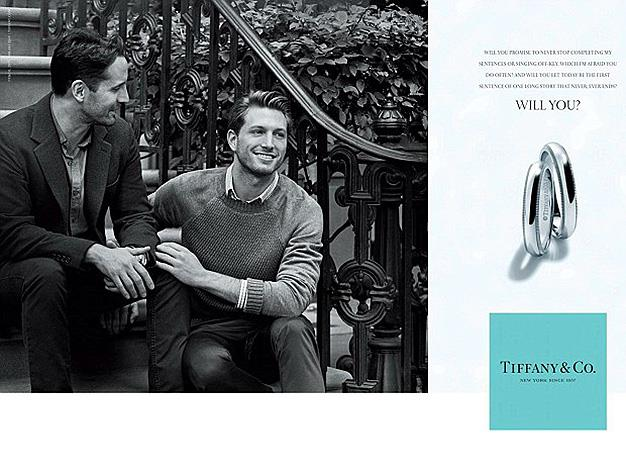 **Tiffany & Co.:** Tiffany & Co. is not the first high-profile brand to tactically express support for gay marriage through the means of advertising which is fast becoming a trend.