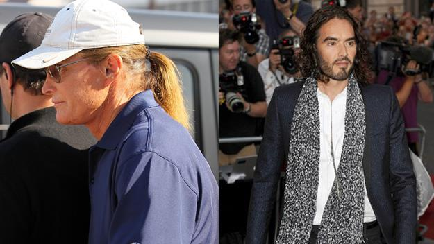 Bruce Jenner and Russell Brand