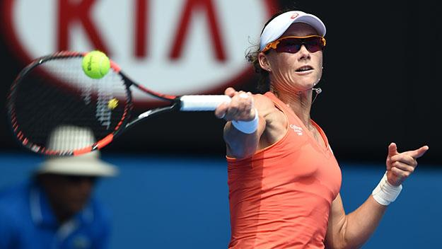 Wouldn't it be nice to see the determination on Stosur's face occasionally? Pics: Getty.