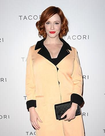 "Christina Hendricks wants to encourage women to ""celebrate what [they] are born with""."