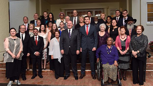 This year's nominees, across all categories, for Australian of the year pictured with the Governor General, Sir Peter Cosgrove