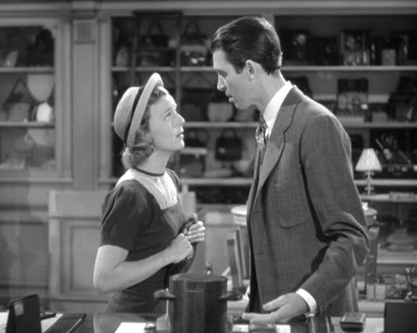 The 1940 film The Shop Around the Corner where Margaret Sullavan and James Stewart play two characters who can't stand each other yet fall in love through anonymous correspondence.