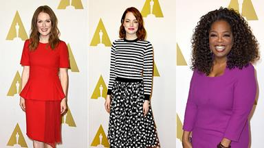 Celebrities turn out for Oscar nominees luncheon