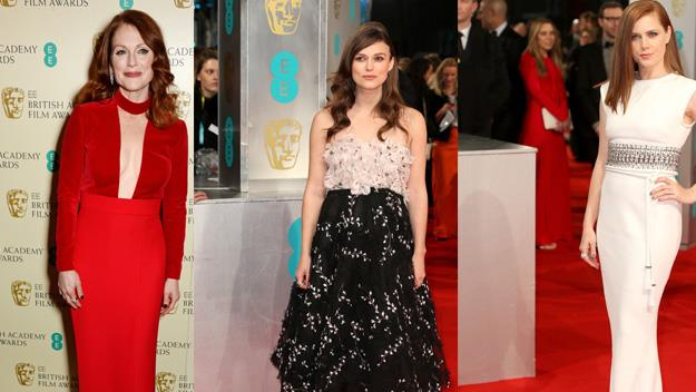 All of the red carpet looks from this year's Baftas.