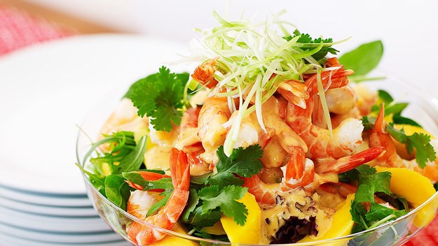 [Prawn and mango salad.](http://www.aww.com.au/food/recipes/2011/9/prawn-and-mango-salad)