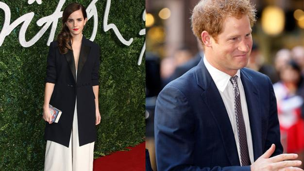 Emma Watson crushes those Prince Harry rumours