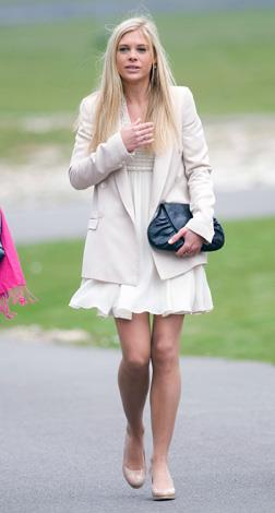 Prince Harry's former long-time girlfriend Chelsy Davy at Prince Harry's graduation.