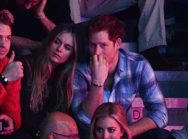 Prince Harry with former girlfriend Cressida Bonas.