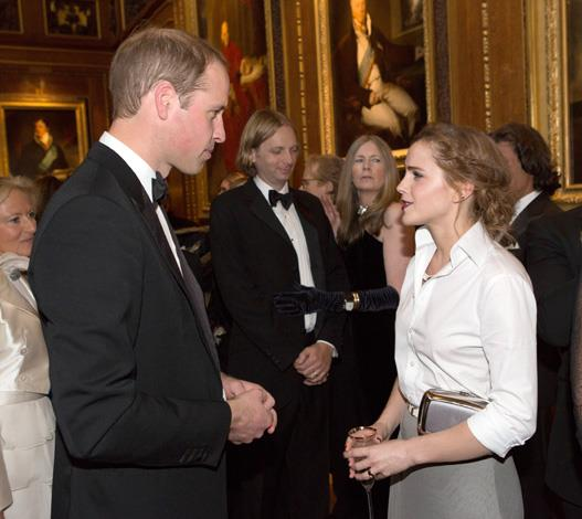 Emma Watson might not be dating Prince Harry but she DID meet his brother Prince William at an event once.