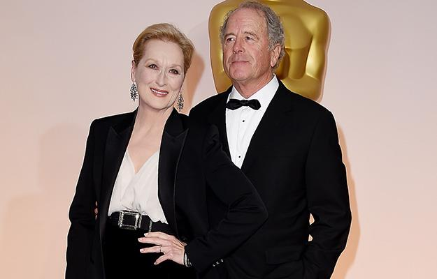Meryl Streep and her husband Don Gummer on the red carpet before the show.