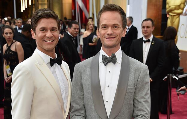 Oscar's host Neil Patrick Harris with husband David Burtka.