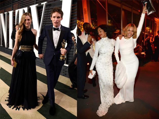 The stars burned brightly at the Vanity Fair Oscars party.
