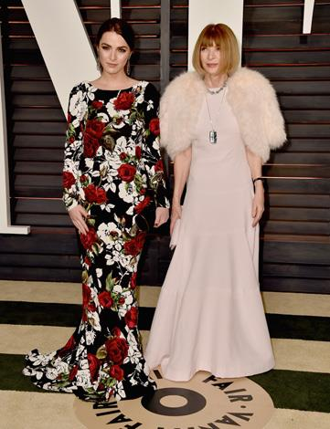 Anna Wintour and her daughter Bee Shaffer.