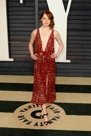 Emma Stone, lady in red.