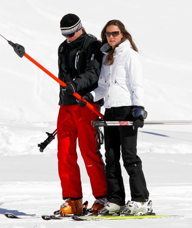 Prince William and the Duchess of Cambridge (nee Kate Middleton) when they were courting and trying to impress each other on the ski slopes.