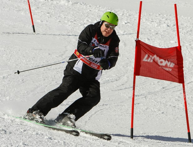 Prince Albert of Monaco takes his skiing very seriously indeed.