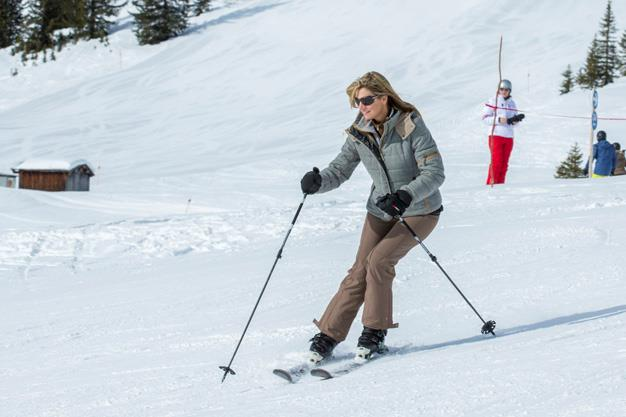 Queen Maxima looking stylish on the slopes on the Dutch royal family's annual ski holiday.