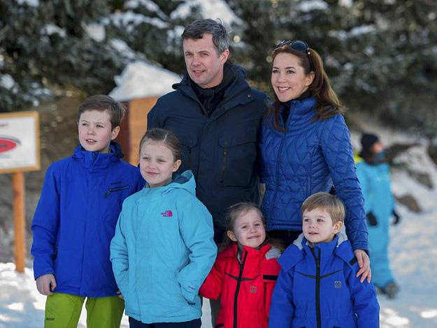 Princess Mary, Prince Frederick and their apple-cheeked brood.