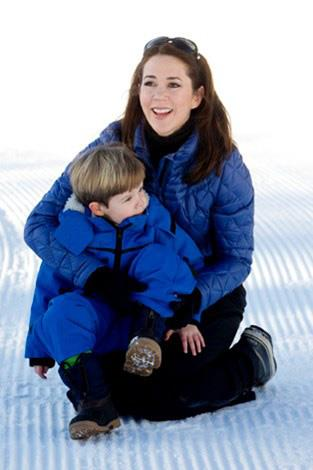 Princess Mary somehow manages to look chic in a puffer jacket.