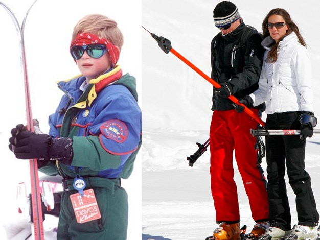 Harry totally dominates in his 1994 ski attire.