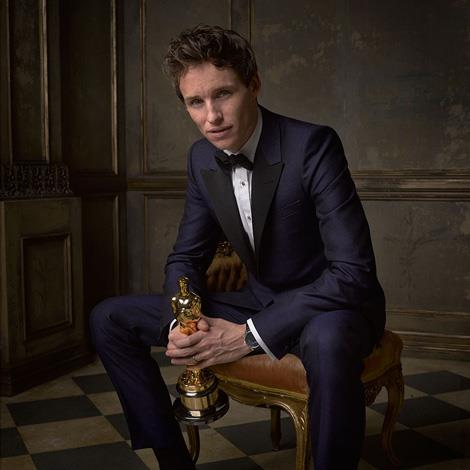 The man of the hour, Eddie Redmayne, in a moment of quiet contemplation after all of the fuss. Image by Mark Seliger, via Instagram/@markseliger