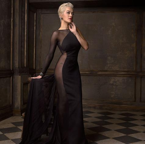 Rita Ora's sheer dress had everyone talking, we love this quiet photo of her. Image by Mark Seliger, via Instagram/@markseliger