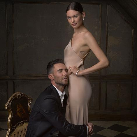 Adam Levine and Behati Prinsloo are still behaving like newly weds. Image by Mark Seliger, via Instagram/@markseliger
