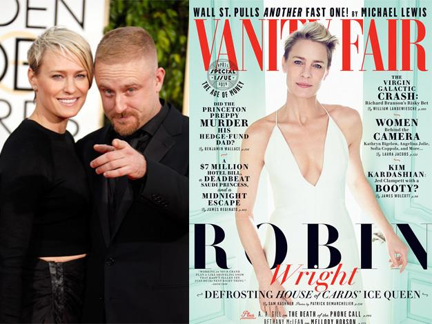 "House of Cards star Robin Wright reflects on her divorce from Sean Penn and her new life with Ben Foster in the April issue of Vanity Fair: ""I've never been happier in my life than I am today."""