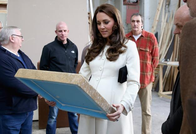 Kate was shown the props which turn the popular drama into a vision on screen.