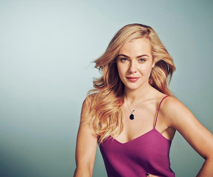 Logie Winning Actress Jessica Marais in Australian Women's Weekly