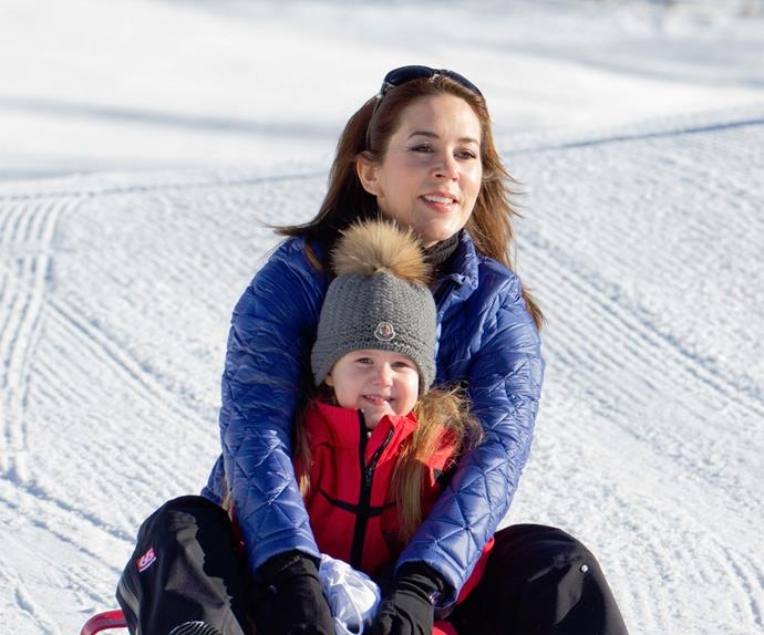 Prince Frederick and Princess Mary on holiday in Switzerland