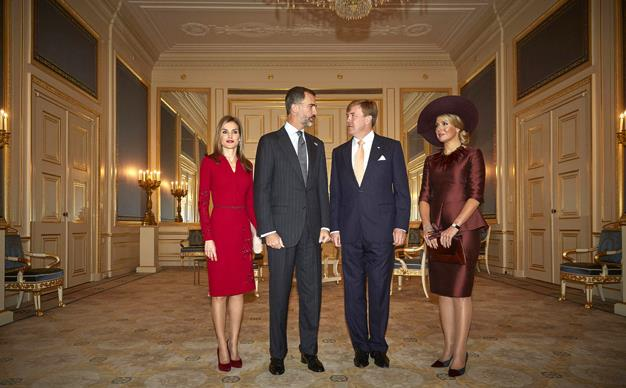 Spain's King Felipe VI and Queen Letizia, King Willem-Alexander and Queen Maximaof the Netherlands.