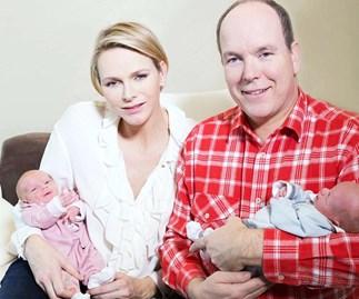 Princess Charlene, Prince Albert and their twins