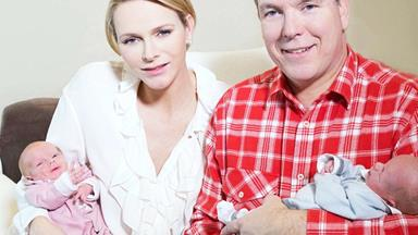 First photos of Princess Charlene's twins at 2 weeks old
