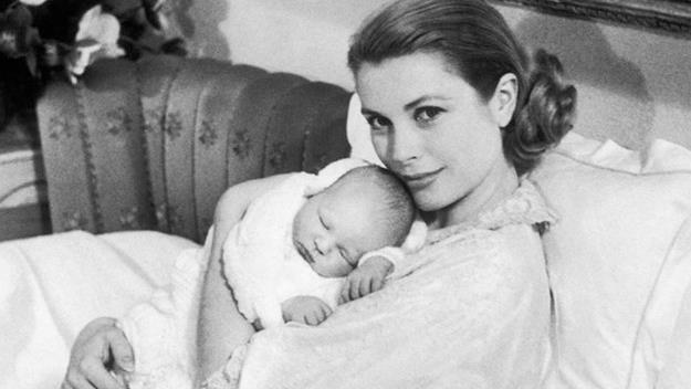 Princess Grace and with her husband, Prince Rainier.