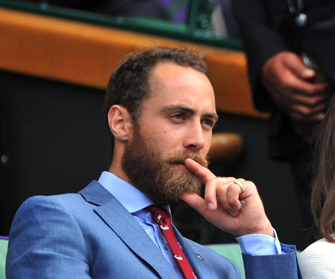 James Middleton at the tennis