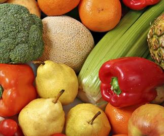 eat fibre vegetables, fruit, thinkstock