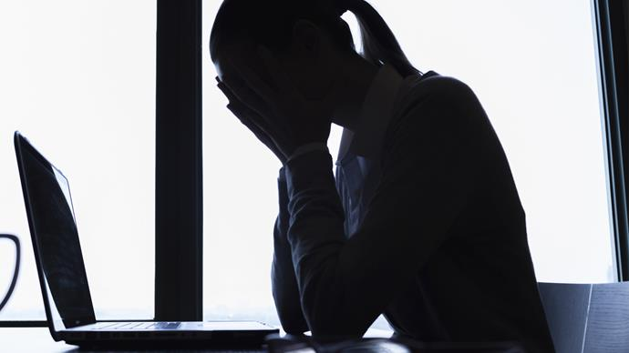 Woman suffering from mental health problems