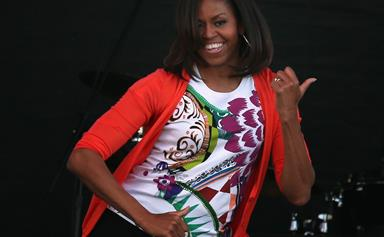 Michelle Obama does Uptown Funk