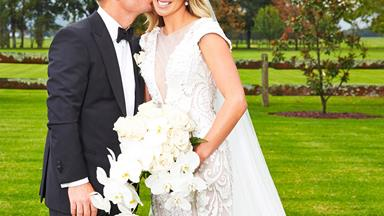 Candice Falzon wows in $25,000 wedding dress