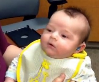 WATCH: This deaf baby just heard his mother speak for the first time.