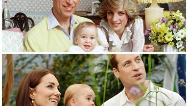 Spot the difference: We compare Baby William to Baby George.