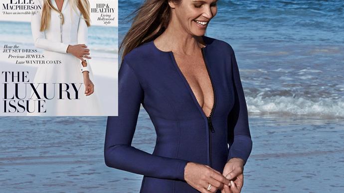 Elle MacPherson stuns on Harper's Bazaar cover