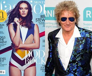 Rock royalty: Rod Stewart's daughter makes modeling debut
