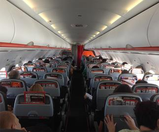 Plane passenger 'uses chair to strike crying baby'